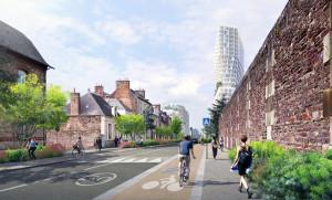 Rue de l'Alma - Des travaux pour améliorer le confort et la sécurité des piétons et des vélos